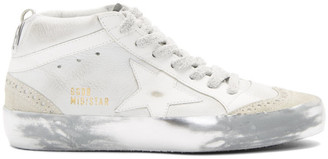 Golden Goose White Sparkle Sole Mid Star Sneakers