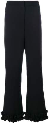 VIVETTA frill trim flared trousers