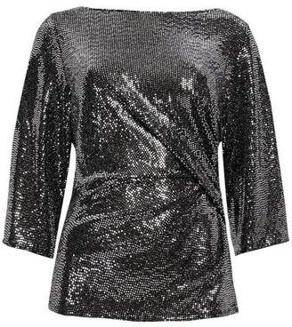 Wallis Silver Ruched Side Blouse