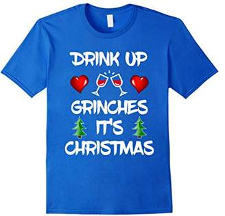 Drink Up Grinches Funny Christmas Xmas Drinking T-Shirt