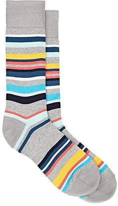 Paul Smith Men's Aster Striped Cotton-Blend Mid-Calf Socks