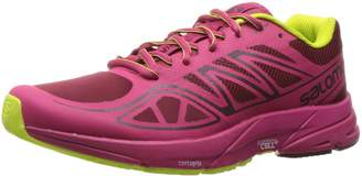 Salomon Women's Sonic Aero W L39349700 Trail Runner, Tibetan Red/Sangria/Lime Punch