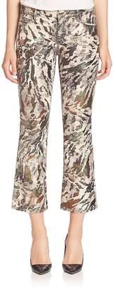 Faith Connexion Women's Glitter Printed Cropped Pants