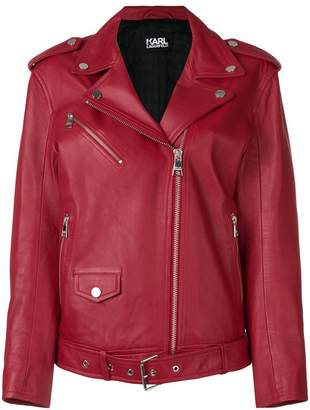 Karl Lagerfeld Oversized Leather Biker