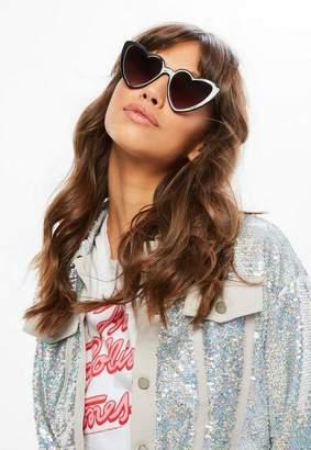 Missguided Black Heart Shape Sunglasses