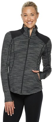 Tek Gear Women's Performance Thumb Hole Full Zip Jacket