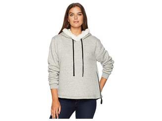 True Grit Dylan by Statement Sherpa Pullover with Zipper and Black Trim