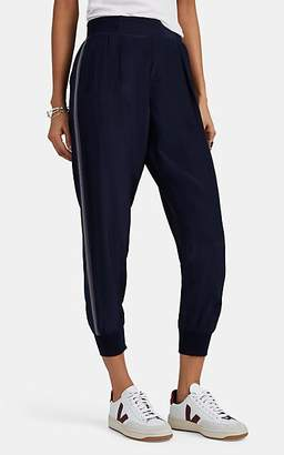 ATM Anthony Thomas Melillo Women's Striped Silk Satin Jogger Pants - Blue