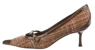 Isabella Fiore Tweed Pointed-Toe Pumps
