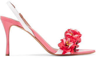 Tabitha Simmons Follie Embellished Patent-leather Slingback Sandals - Pink