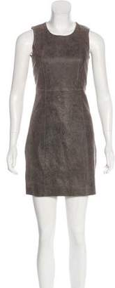 Theyskens' Theory Suede Distressed Dress w/ Tags