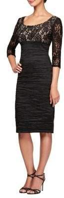 Alex Evenings Plus Midi Empire Waist Sheath Dress