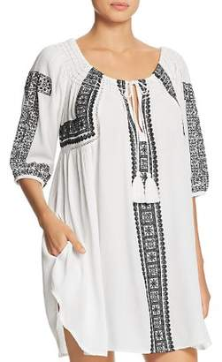 Mila Louise Muche et Muchette Embroidered Tunic Swim Cover-Up