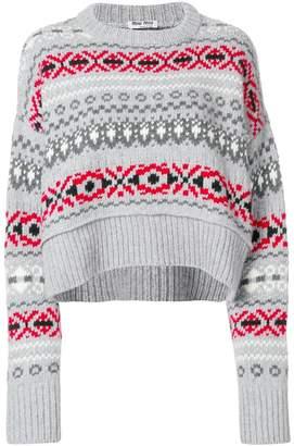 Miu Miu intarsia knit jumper