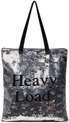 Ashish Silver Heavy Load Sequin tote bag