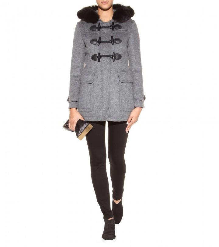 Burberry Blackwell wool duffle coat with detachable fur collar