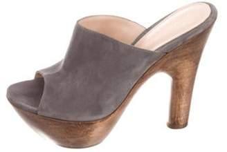 Gianvito Rossi Suede Platform Sandals Grey Suede Platform Sandals