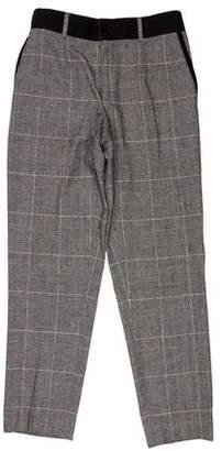Dolce & Gabbana Virgin Wool Plaid High-Rise Pants