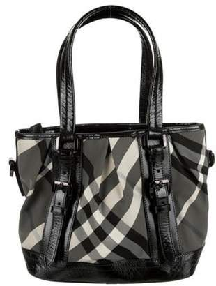 Burberry Beat Check Lowry Tote Black Beat Check Lowry Tote