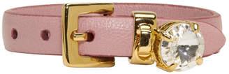 Miu Miu Pink Rhinestone Charm Bracelet