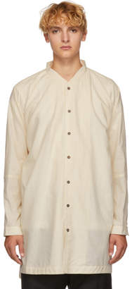 Jan-Jan Van Essche White Silk and Cotton Striped Shirt