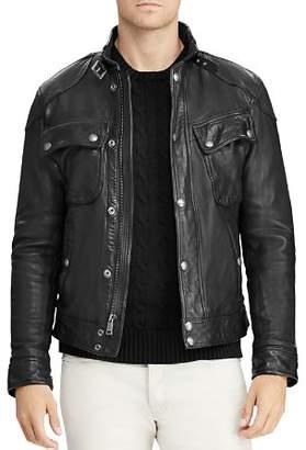 Polo Ralph Lauren Circuit Leather Biker Jacket