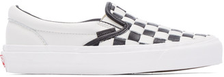 Vans Black & White 50th OG Classic LX Slip-On Sneakers $140 thestylecure.com