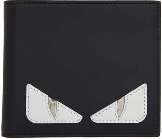 b193e108f82c Fendi Black and Red Bag Bugs Slim Wallet