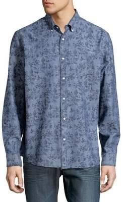 Black & Brown Black Brown Floral-Print Button-Down Shirt
