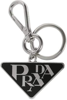 Prada Triangle Logo Key Chain
