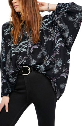 Women's Free People Metallic Blooms Top $98 thestylecure.com