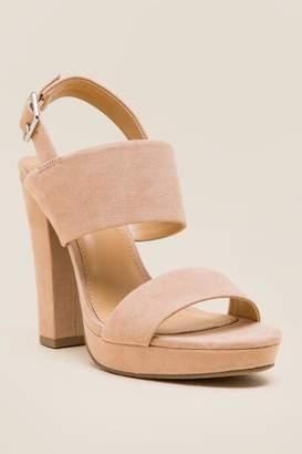 Report Lawren Wide Strap Platform Heel - Nude