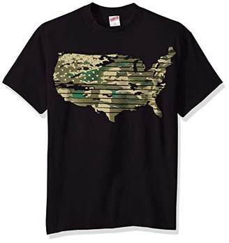 Soffe Men's American Flag Graphic T-Shirt Americana Collection