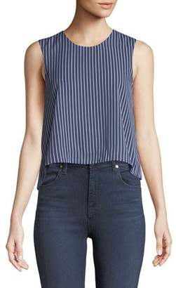 Club Monaco Midan Striped Sleeveless Crop Top