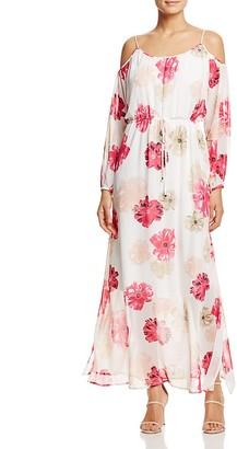 Calvin Klein Floral Print Cold-Shoulder Maxi Dress $129.50 thestylecure.com