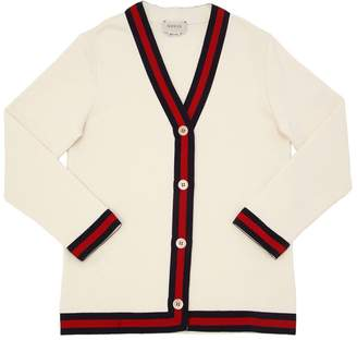 Gucci Oversized Cotton Sweatshirt Cardigan