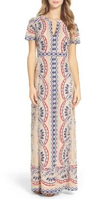 Women's Bcbgmaxazria Cailean Burnout Gown $368 thestylecure.com