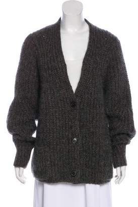Isabel Marant Wool & Mohair-Blend Rib Knit Cardigan