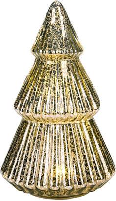 Transpac Glass Gold Christmas Light Up Mercury Glass Tree