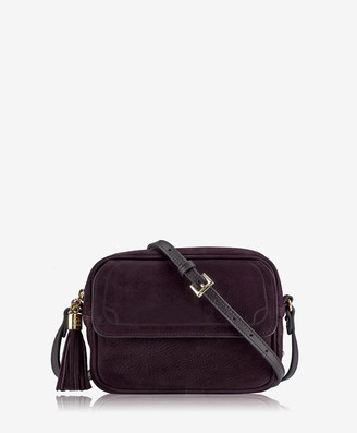 GiGi New York Madison Crossbody, Berry French Nubuck Suede