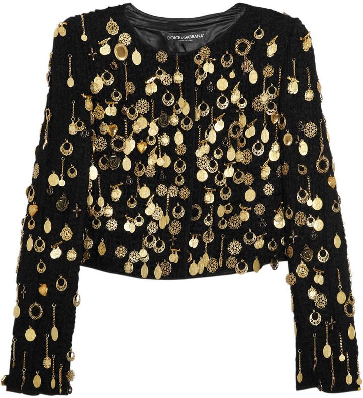 Dolce & Gabbana Bouclé-wool and brass jacket