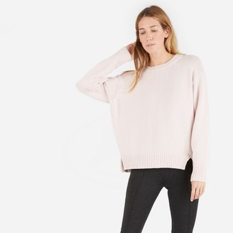 The Chunky Knit Cotton Crew $85 thestylecure.com