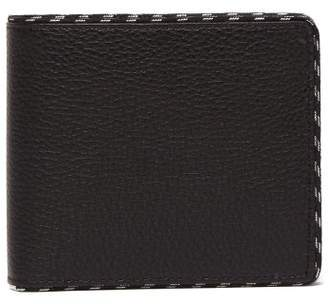 Maison Margiela Bi Fold Grained Leather Wallet - Mens - Black