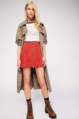 Blank NYC Bankroll Suede Skirt