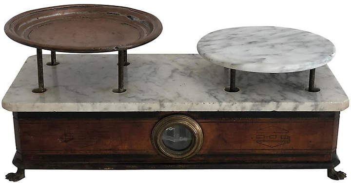 One Kings Lane Vintage Antique French Marble Scale - Ballyhoo