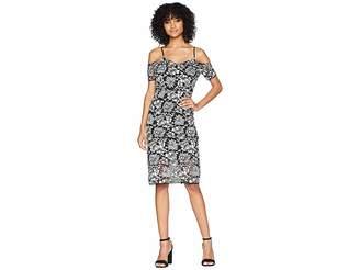 Romeo & Juliet Couture Bodycon Floral Lace Dress Women's Dress