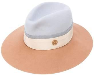 Maison Michel colour block trilby hat