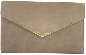 Hermes Vintage Beige Suede Clutch Bag