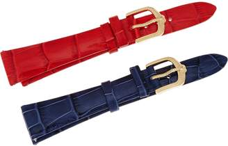 Judith Ripka Stainless Steel Goldtone Leather Watch Straps