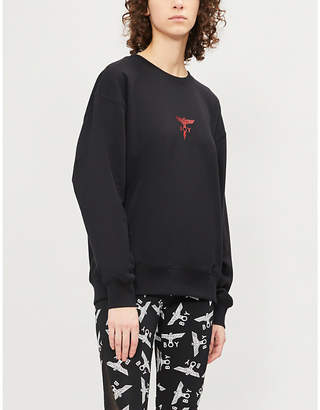 Boy London Lightning logo-print cotton-jersey sweatshirt